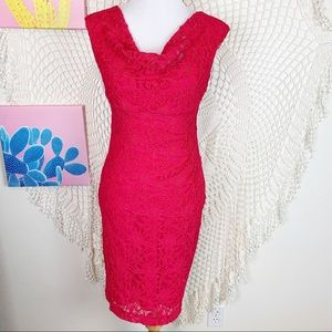 Lauren Ralph Lauren lace cowl neck sheath dress 2
